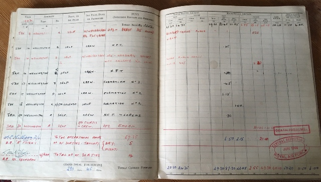 PL Chapman log book last pages